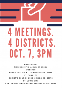 Four Meetings, Four Districts