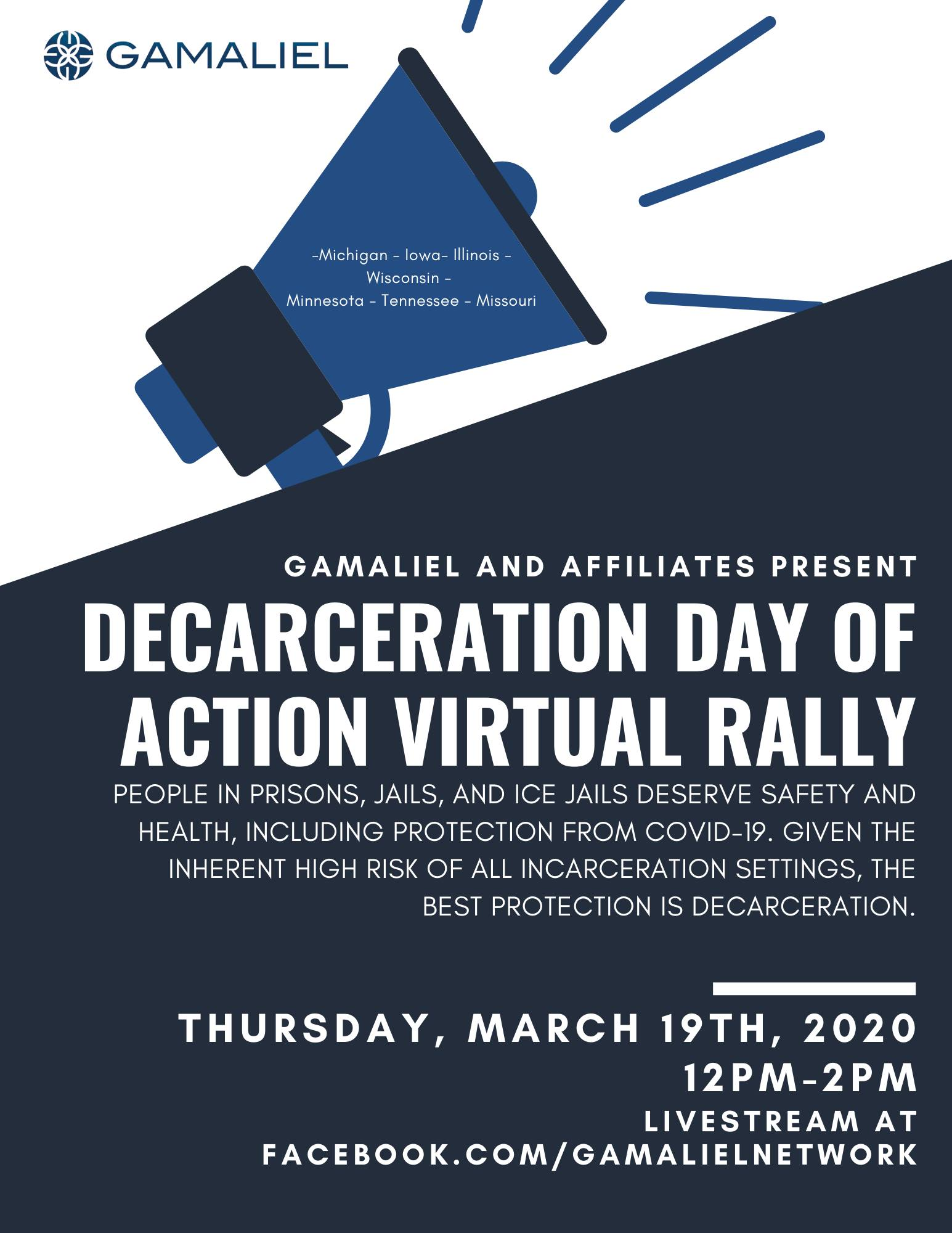 decarceration day of action virtual rally